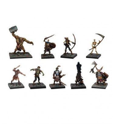 Figurines de morts-vivants pour Dungeon Saga