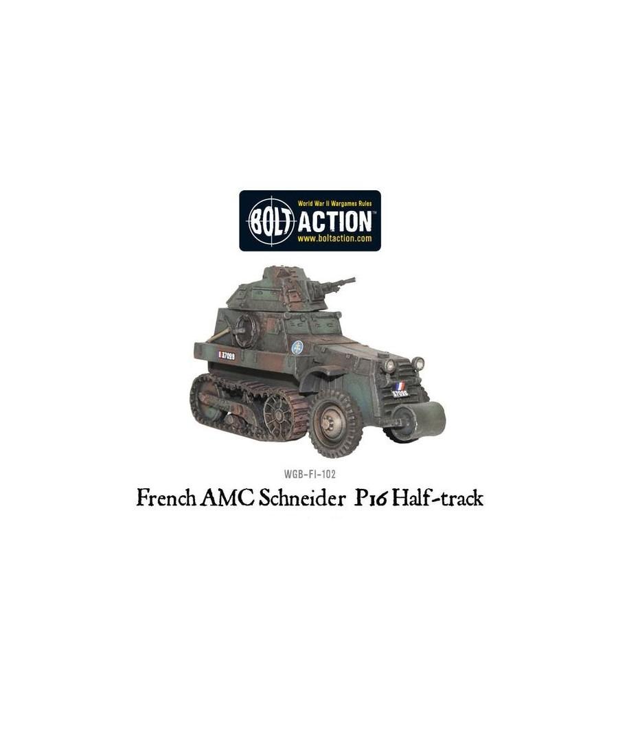 Bolt Action : French AMC Schneider P16 Half-track | Boutique Starplayer