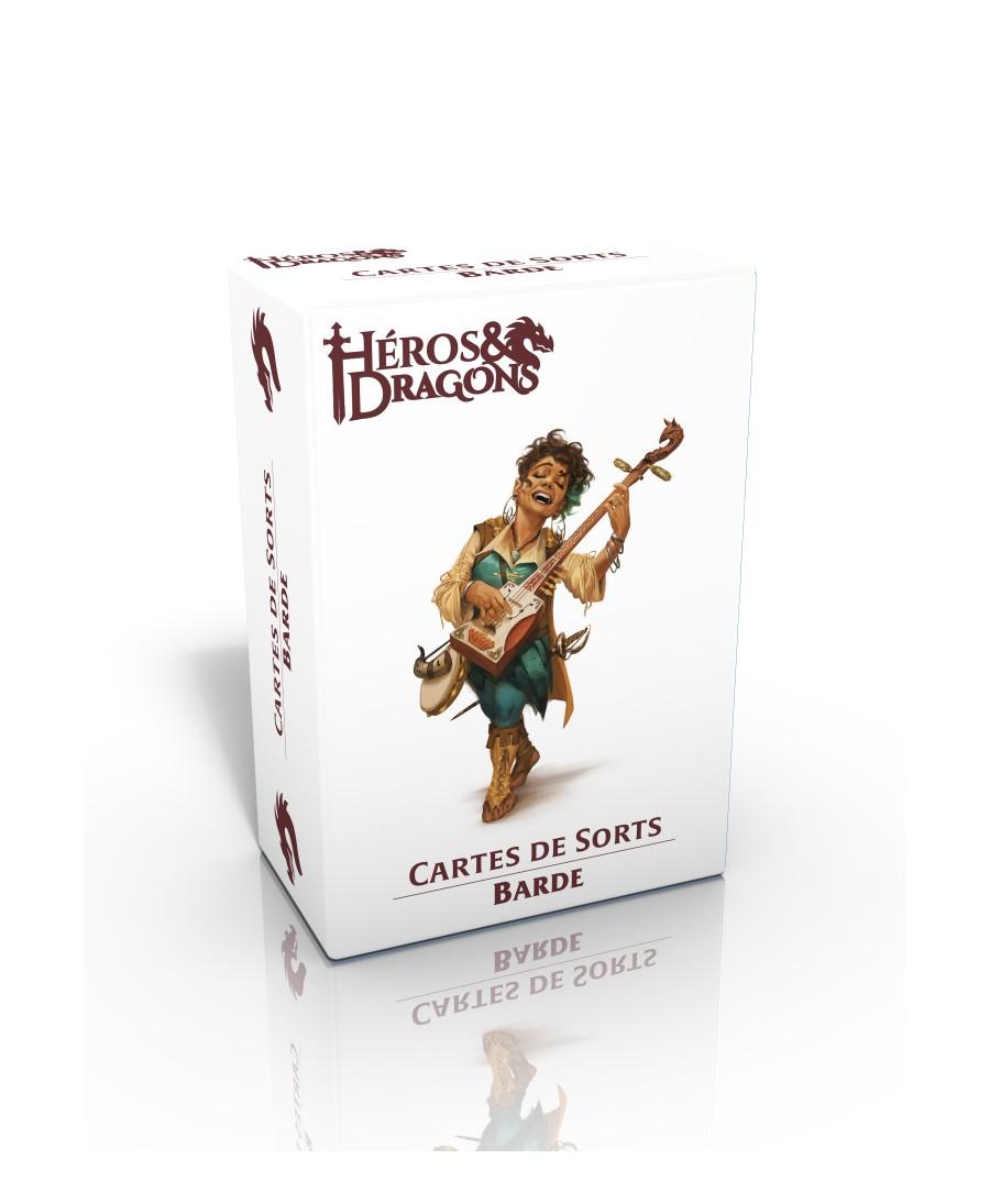 Héros & Dragons : Cartes de sorts - Barde | Boutique Starplayer