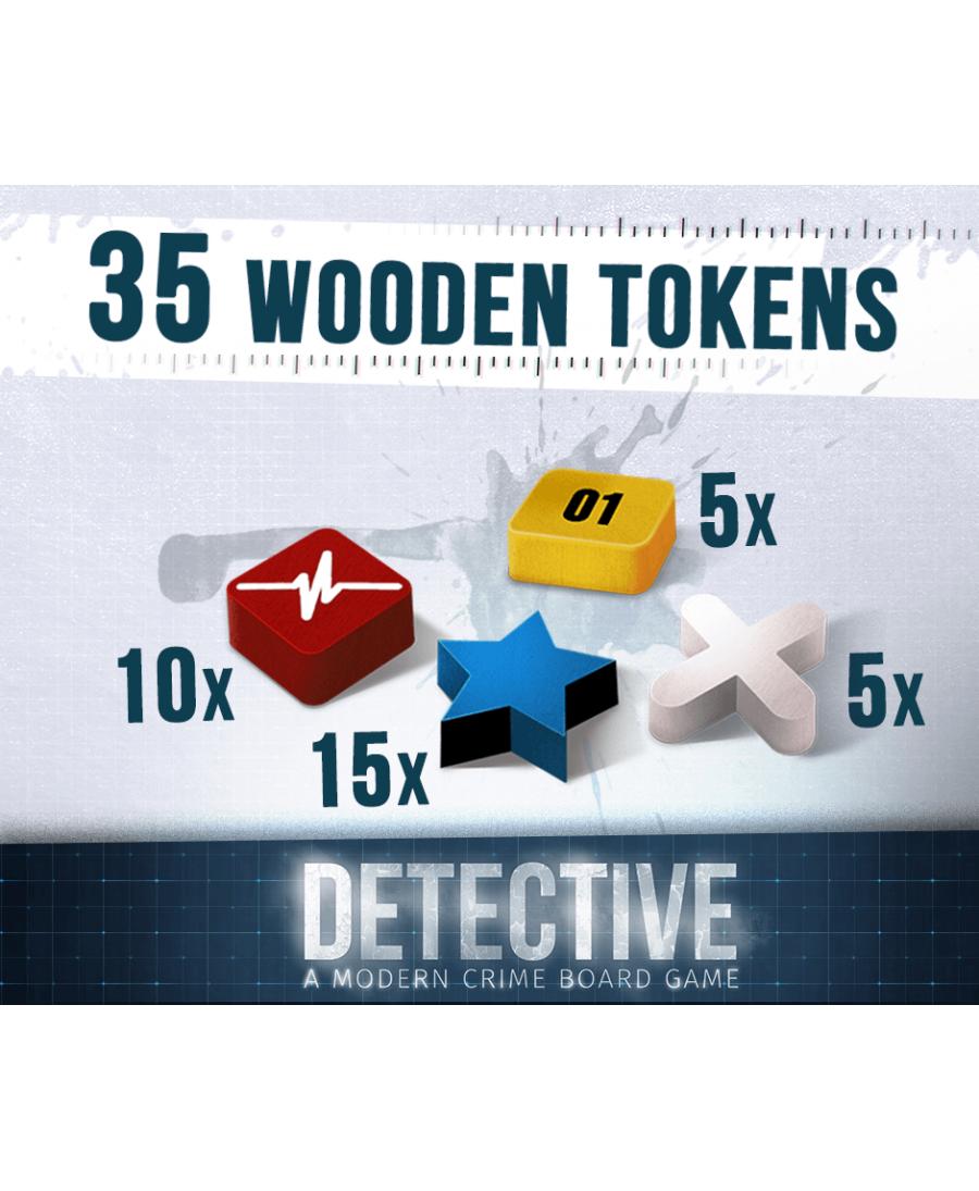 Detective : Marqueurs en Bois | Boutique Starplayer | Jeux de Société | Enquête
