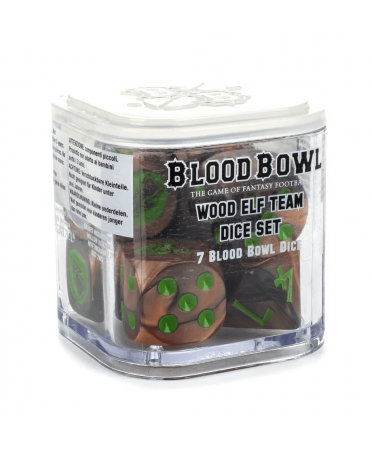 Blood Bowl : Dés d'équipe Wood Elf | Boutique Starplayer | Jeu de Figurines