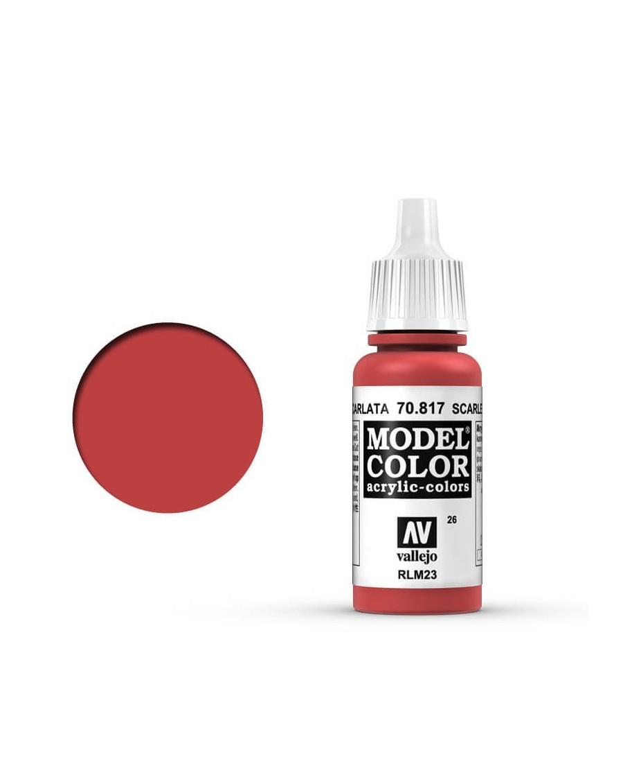 Vallejo Model Color : Rouge Écarlate | Boutique Starplayer | Peinture & Modélisme