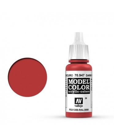 Vallejo Model Color : Vermillon Sombre | Boutique Starplayer | Peinture & Modélisme