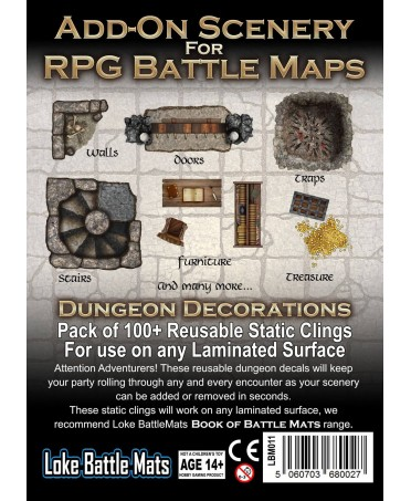 Add-On Scenery for RPG Battle Maps : Dungeon Decorations   Starplayer   Accessoires