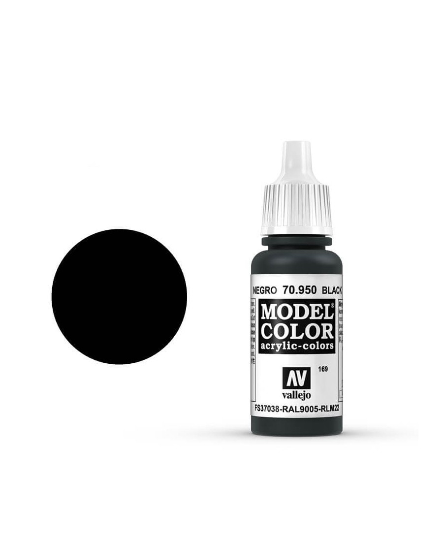Vallejo Model Color : Noir | Boutique Starplayer | Peinture & Modélisme