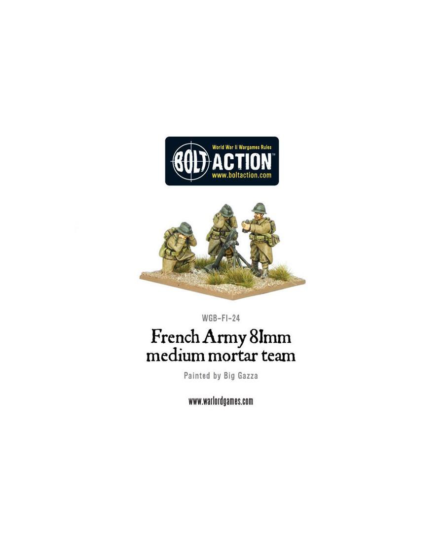 Bolt Action: French Army 81mm Medium Mortar Team   Boutique Starplayer   Jeu de Figurines Historique
