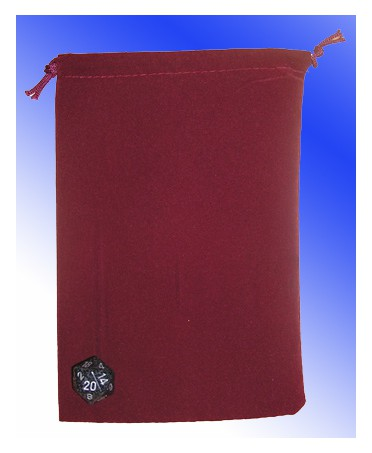 Large Cloth Dice Bag BURGUNDY