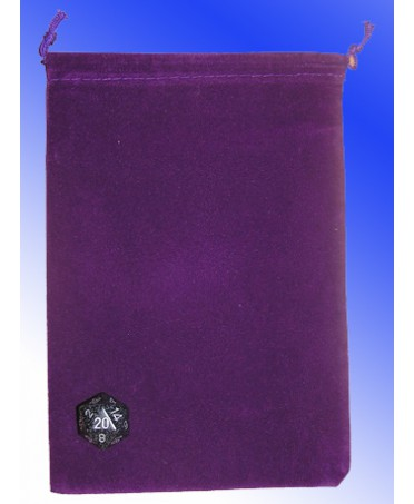 Large Cloth Dice Bag PURPLE