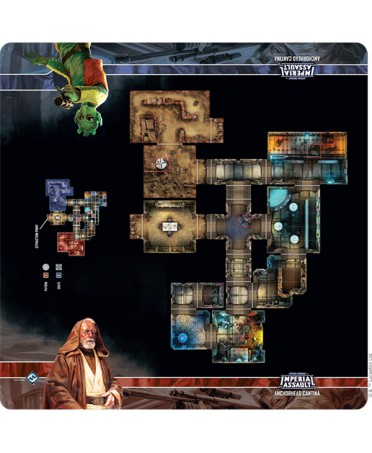 Star Wars - Imperial Assault : Anchorhead Cantina Skirmish map