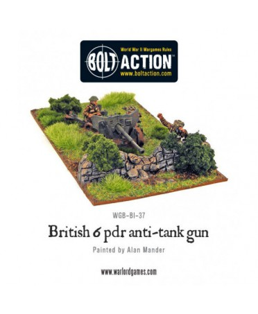 Bolt Action : British Army Six Pounder Anti-Tank Gun | Starplayer | Jeu de Figurines Historique