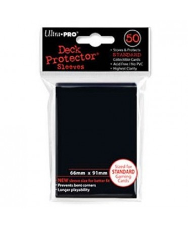 Protège Cartes : Ultra Pro Standard ( 66mm x 91mm ) Noir