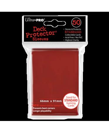 Protège Cartes : Ultra Pro Standard ( 66mm x 91mm ) Rouge