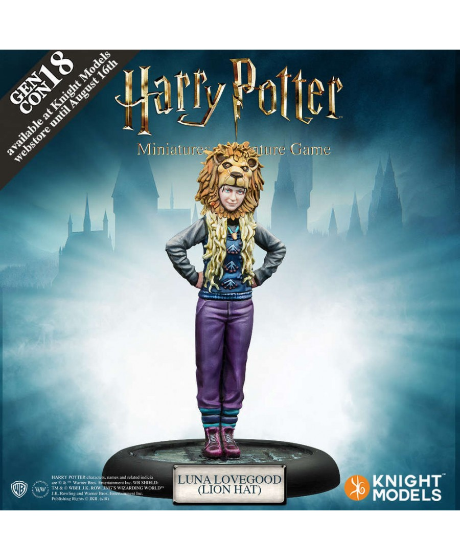 Harry Potter Miniature Adventures Game : Luna Lovegood with Lion Hat | Boutique Starplayer